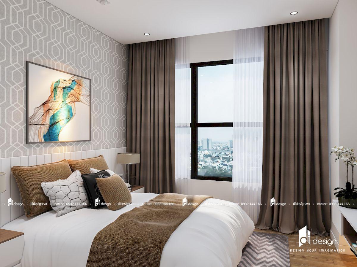 Thiết kế nội thất căn hộ 2 Phòng Ngủ Diamond Island Đảo Kim Cương 72 m2