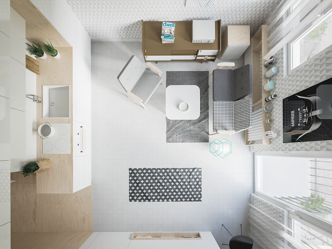 Nội thất căn hộ The Signial 57m2 thiết kế theo phong cách hiện đại