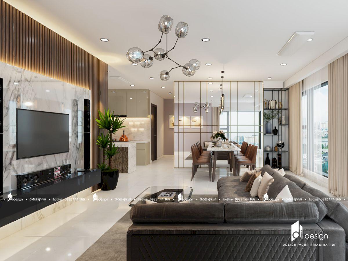 Thiết kế nội thất căn hộ chung cư KingDom 101 3 phòng ngủ 102m2