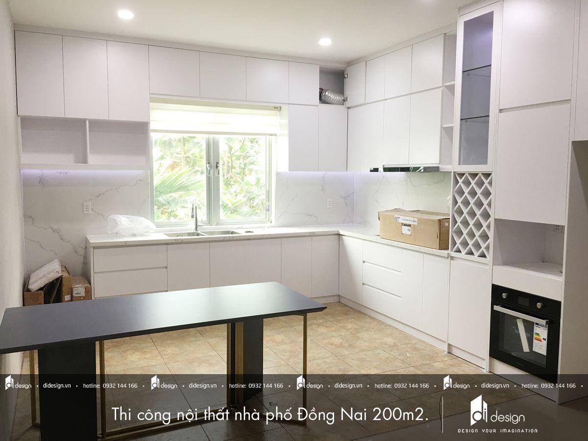 Thi công nội thất nhà phố Đồng Nai 200m2 đẹp hiện đại