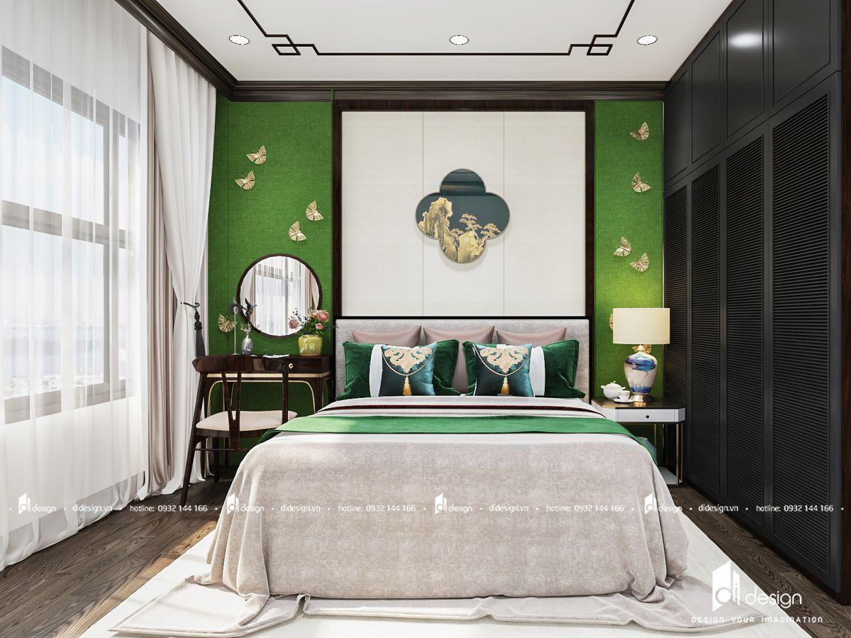 Thiết kế nội thất chung cư Safira Khang Điền 85m2 phong cách Đông Dương