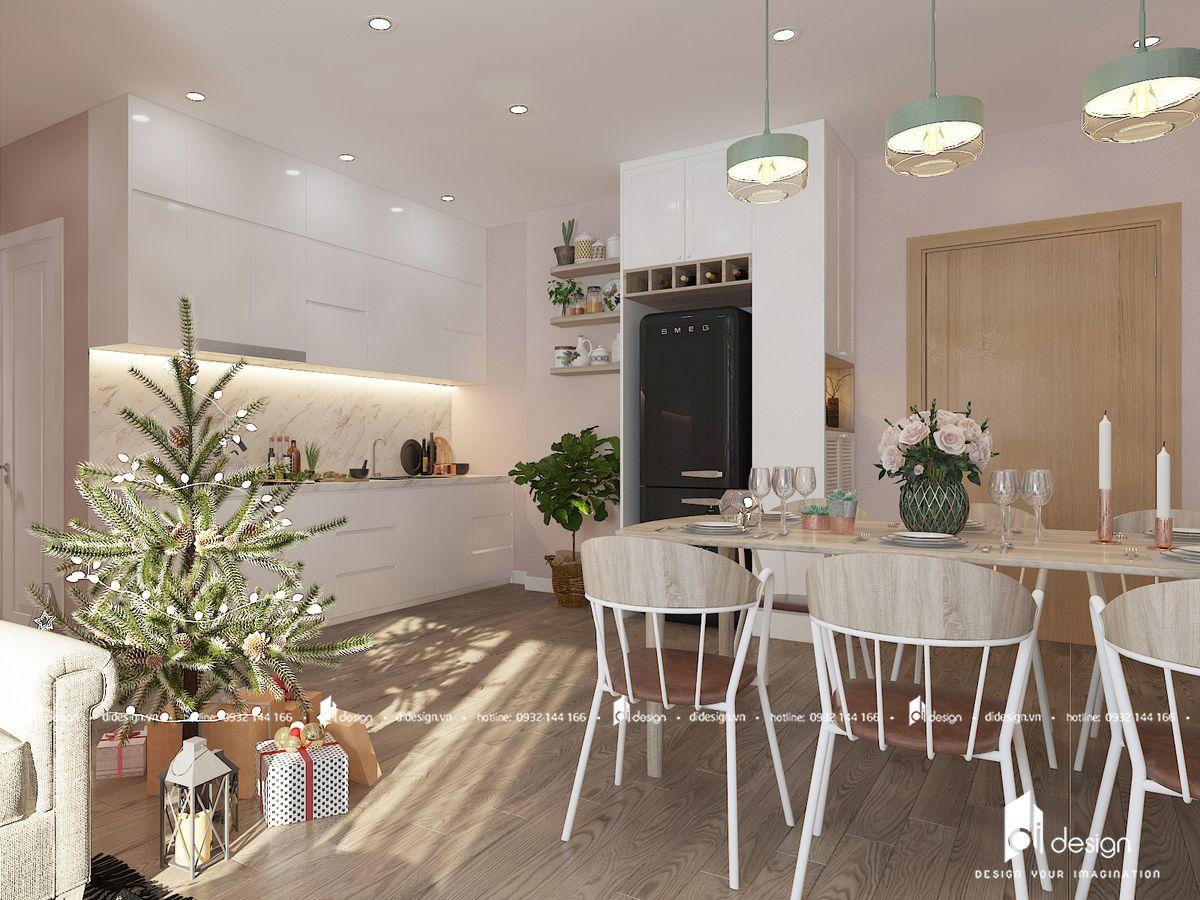 Nội thất căn hộ chung cư Topaz Elite 80m2 thẩm mỹ tinh tế