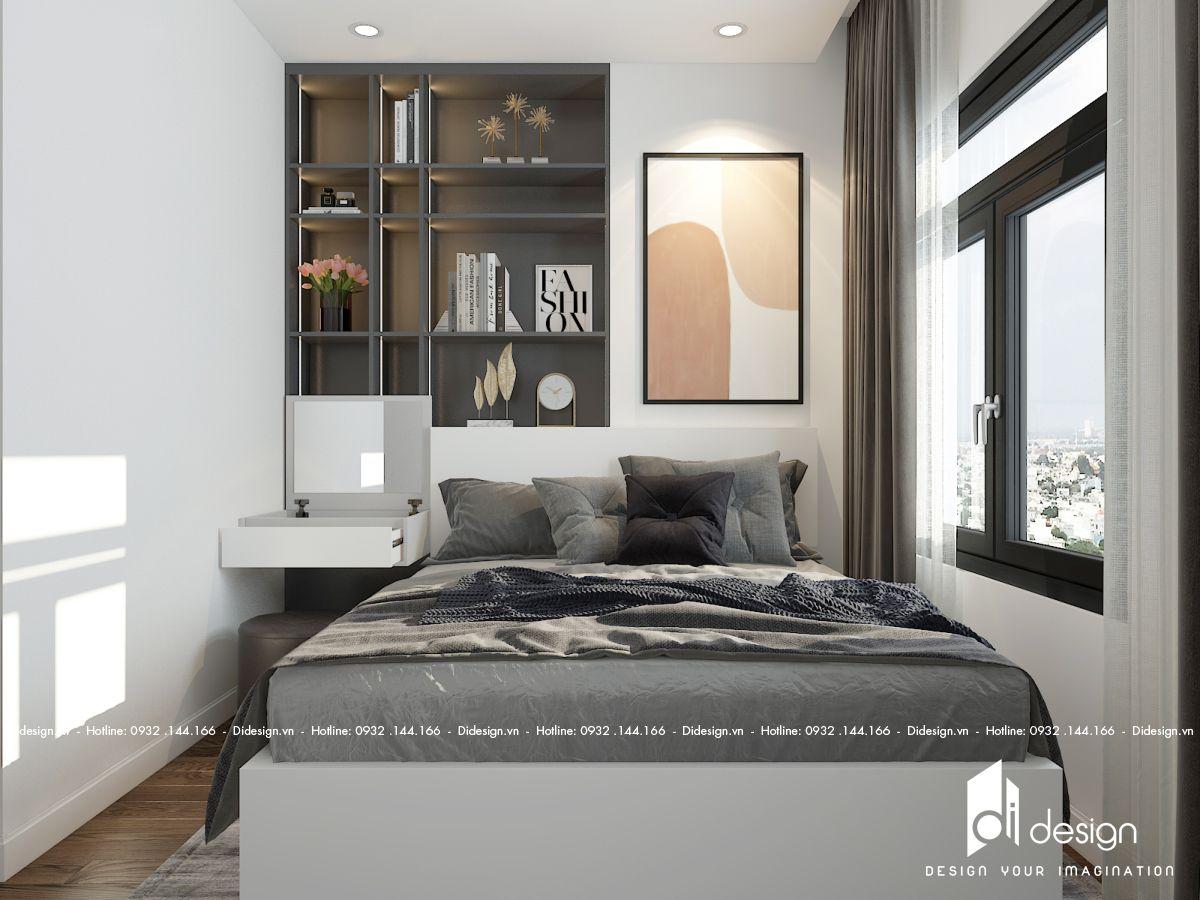 Nội thất căn hộ chung cư STown Phúc An 79m2 đơn sắc nhìn góc nào cũng thấy ấn tượng