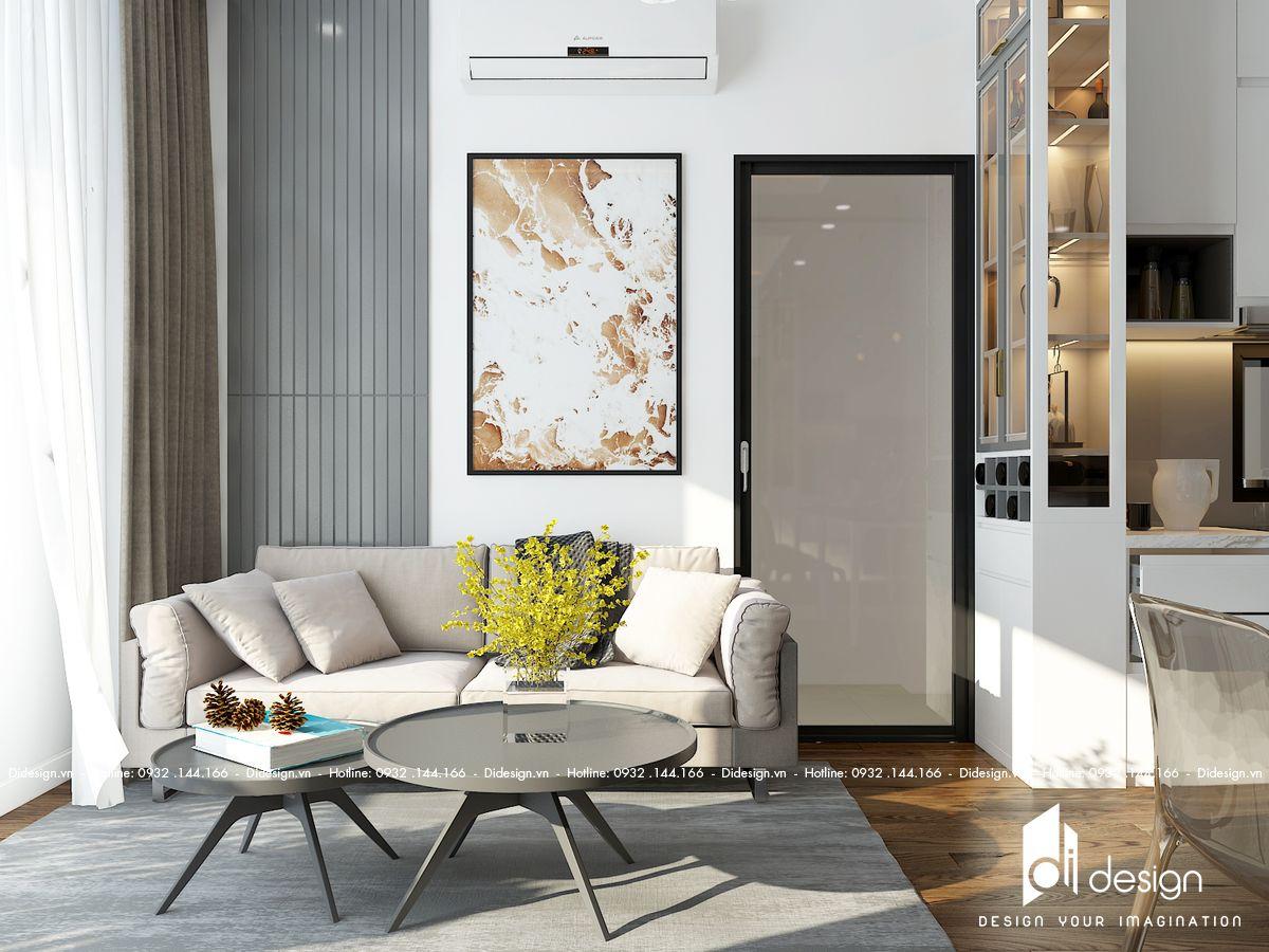 Thiết kế nội thất chung cư Mizuki Park 86m2 trắng xám yên bình, mộc mạc