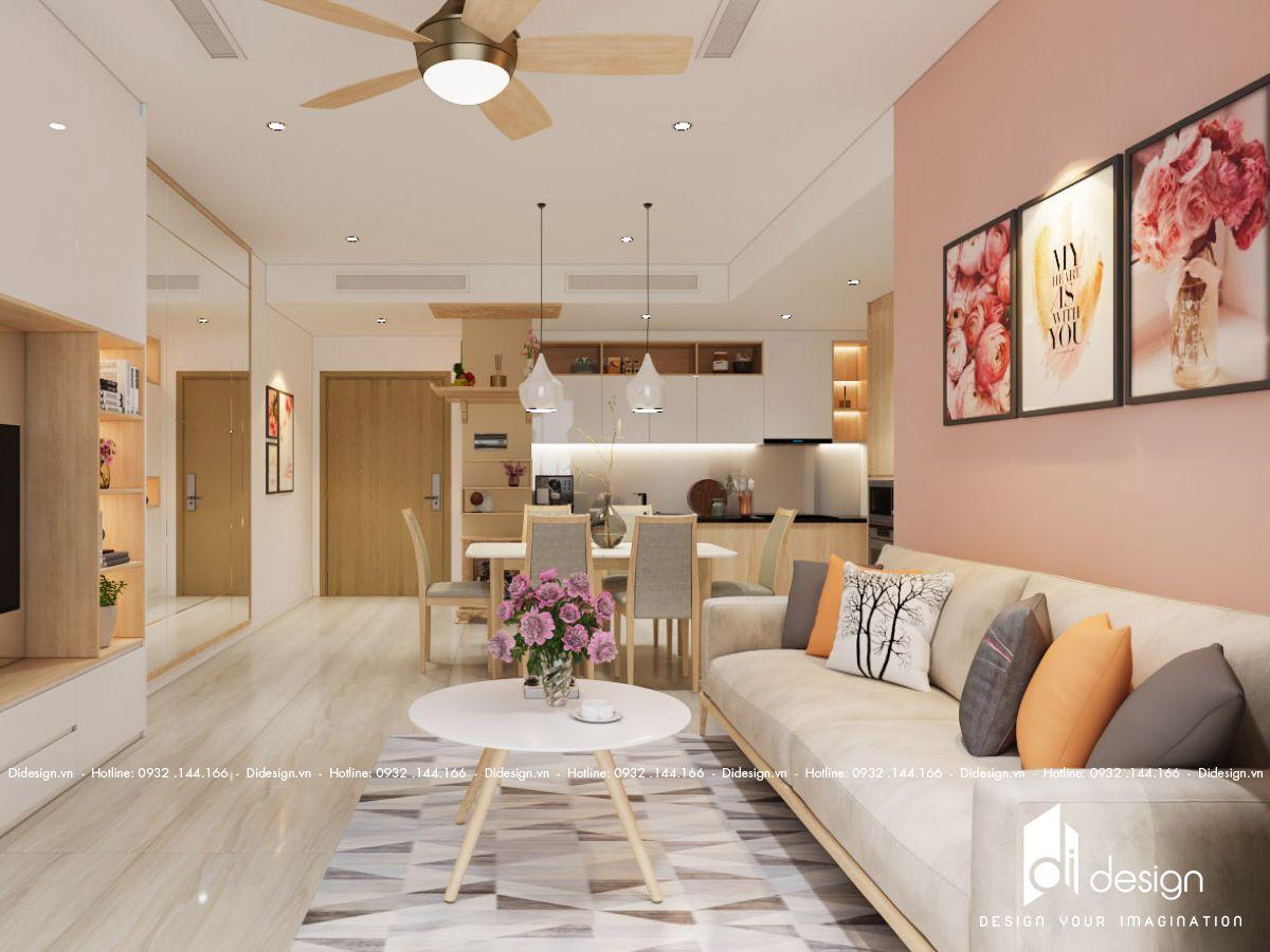 Nội thất căn hộ chung cư Bcons Garden 57m2 cho thuê ấm cúng