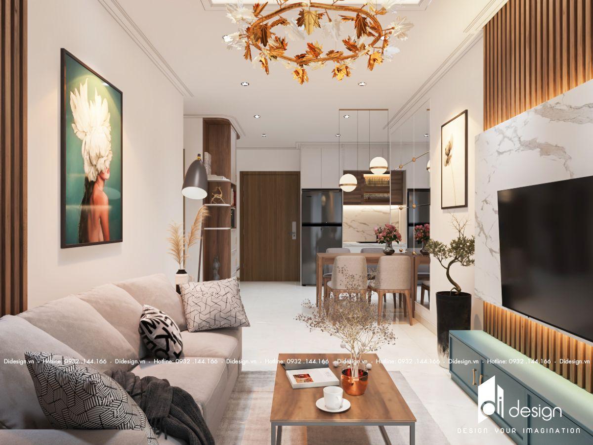 Nội thất căn hộ chung cư Urban Hill 78m2 đơn giản nhưng tiện nghi