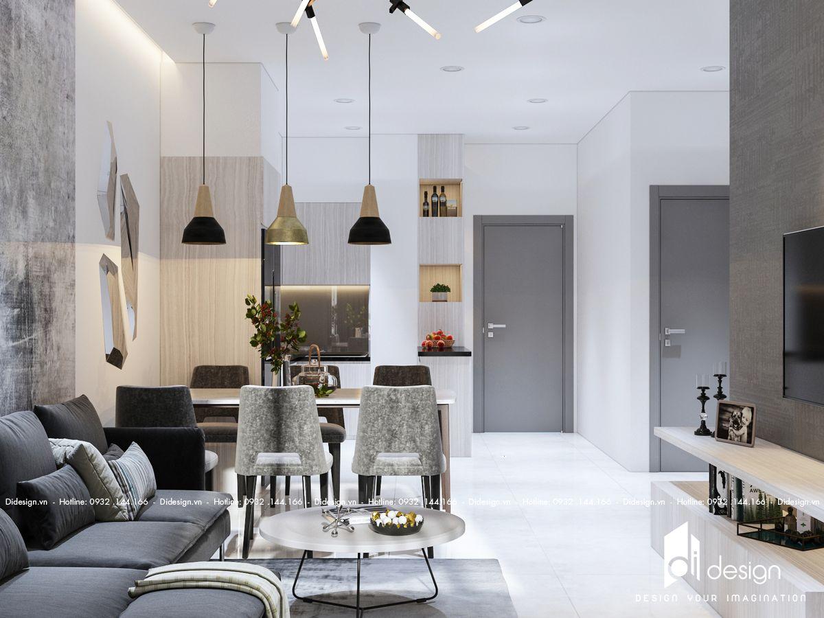 Thiết kế nội thất căn hộ Green Town 68m2